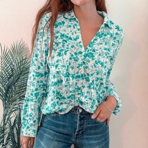 Anthro l Maeve 'Islet' Floral Button Down